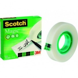 SCOTCH Cinta adhesiva Magic Invisiblemedidas 12 mm. x 33 m.ref.70005258721