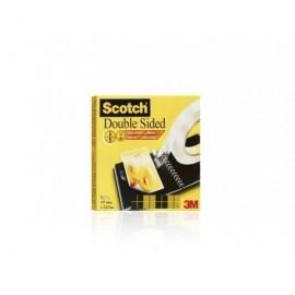 SCOTCH Cinta 666 Adhesiva 19x33mm Doble cara Con film protector 70016072814