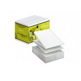 FABRISA Papel continuo Caja 1500 h. 70/57 g. 240x11'' Blanco autocopiativo 16189