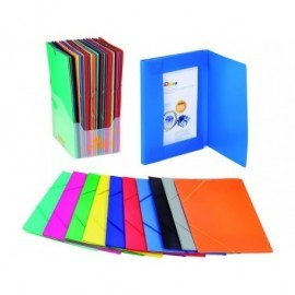 CARCHIVO Expositor carpetas 50 ud 3 solapas Folio Colores surtidos Polipropileno 2033KS