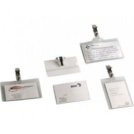 5* Identificadores personales Caja 100 Ud 107x70 mm Pinza metálica 1075P10