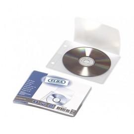 ELBA Bolsa de 5 fundas para CD/DVD 1 CD/funda solapa de cierre y perforación multitaladro 100551464