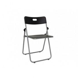 5* Pack 6 sillas plegables Macao 44 x 50 x 78 cm. Negro 265NE