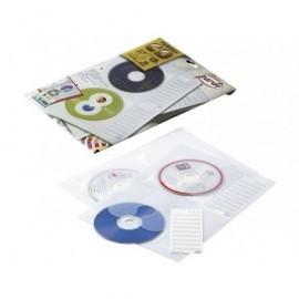 PARDO Pack de 5 fundas para CD/DVD 4 CDs por funda y con 4 taladros en formato A4  2184