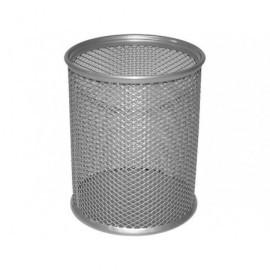 5* Cubiletes portalapices 80x100 MM. Plata Malla metalica 317382