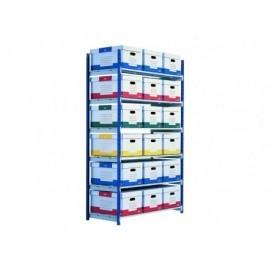 PAPERFLOW Pack de 7 baldas para estantes RANGO PLUS 2000X1250X680MM72177
