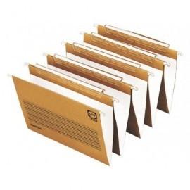 GIO Carpeta colgante Master caja 25ud A4 Lomo V Kraft bicolor Visor superior largo ref.400047713