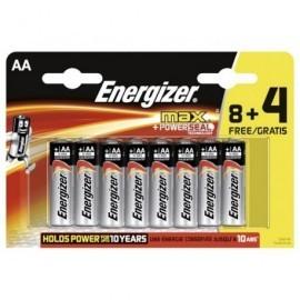 ENERGIZER Pilas AlcalinasMAX AA 8 +4 ud AA LR6 Blister 637547