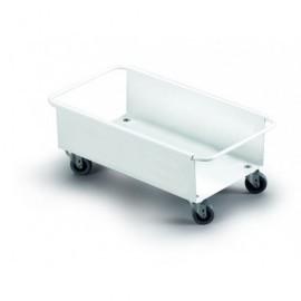 DURABLE Carritos ruedas contenedores Durabin 60L 180X470X260 Blanco Para Durabin 60L 1801666010
