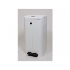 RUBBERMAID Contenedores Step-On Best 940X540X410 100L Blanco Asa Pedal FG615100WH