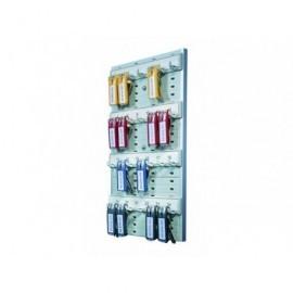 DURABLE Panel llaveros Alt 40 cm Raíl 6 llaveros Incluye 6 llaveros colores surtidos