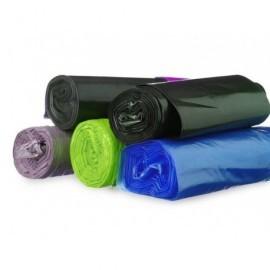 BUNZL Bolsas de basura Paquete 10 ud 800x1050 Negra ALTA RESISTENCIA ref.21690