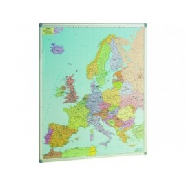 FAIBO Mapa de Europa 119x93 Magnetico Plastificado  Marco Alumnio 163