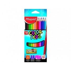 MAPED Lápices colores Color´Peps Estuche 12 Ud Mina blanda Colores surtidos 183212