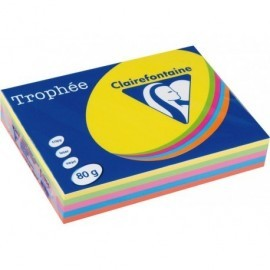 TROPHÉE Papel multifunción color 500h 80 g. A4 SurtidosIntensos 1704C