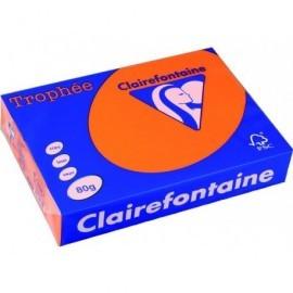 TROPHÉE Papel multifunción color 500h 80 g. A4 Naranja FSC 1761C
