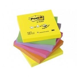POST-IT Notas adhesivas Z-Notes Pack 6 blocs Neon surtidos 76x76mm FT510089939
