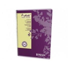 CLAIREFONTAINE Cuaderno espiral Forever 80h A4 cuadrícula 5x5 Surtido 17427C