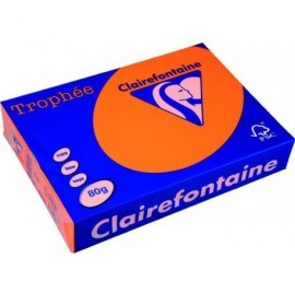 TROPHÉE Papel multifunción color 500h 80 g. A4 Naranja FSC 2978C