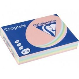CLAIREFONTAINEPapel multifunción color 500h 80 g. A4 Surtidos suaves 1703C