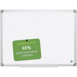 BI-OFFICE Pizarra Vitrificada Earth-It 90x120 Mural Blanca y marco de aluminio PVE90120