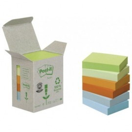 POST-IT Torre notas adhesivas 6 blocs 100h Colores pastel surtidos 38x51mm Reciclado FT510118662