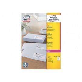 AVERY Etiquetas laser Quickpeel Caja 100 hojas 1600 ud 99,1X33,9 L7162-100