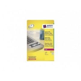AVERY Etiquetas laser poliester Caja 20 hojas Plata Plata L6013-20