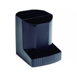 EXACOMPTA Cubiletes portalapices Ecoblack 123X90X110 Negro Material reciclado 675014D