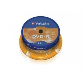 VERBATIM DVD-R Advanced AZO bobina pack 25 ud 16x 4,7GB 120 min 43522