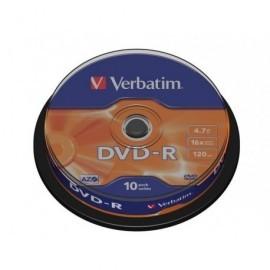 VERBATIM DVD-R Advanced AZO bobina pack 10 ud 16x 4,7GB 120 min 43523