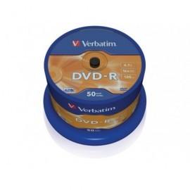 VERBATIM DVD-R Advanced AZO bobina pack 50 ud 16x 4,7GB 120 min 43548