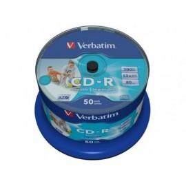 VERBATIM CD-R AZO Wide bobina pack 50 ud 52x 700MB 80min imprimible 43438