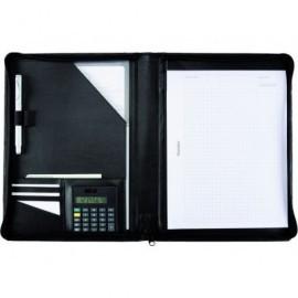 ALASSIO Portabloc Catana símil piel A4 330x260x20mm Negro 30056