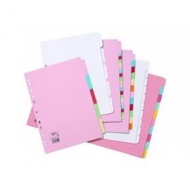 5* Separadores 12 posiciones A4 Colores surtidos Cartulina 330925