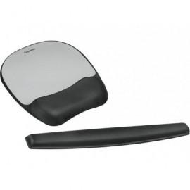 FELLOWES Reposamuñecas para ratón Memory Foam espuma plateado 9175801