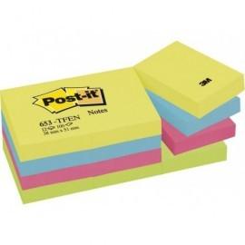 POST-IT Notas adhesivas Gama Energia Pack 12 blocs 100h Colores surtidos 38x51mm FT510283532