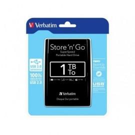 VERBATIM Disco duro portátil Store 'n' Go 1TB/USB 3.0/2,5''/negro 53023