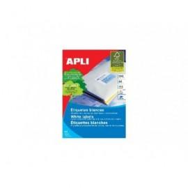 APLI Etiquetas ILC Caja 100 hojas 1600 u 105 x 35 Blancas 1287