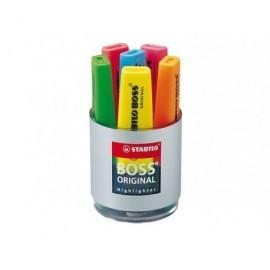 STABILO Marcador fluorescente Boss Cubilete 6 ud Punta biselada Colores surtidos 7006