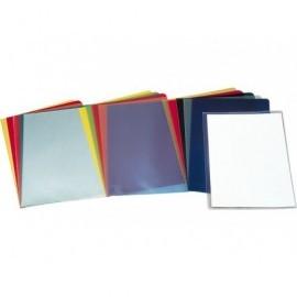 ESSELTE Dossier Caja 100 ud Folio Polipropileno Con uñero Azul 46021
