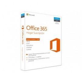 MICROSOFT Office 365 Hogar 5 tabletas + 5 PCs/Macs (hasta 5 usuarios) 1 año suscripción 6GQ-00092