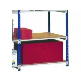 PAPERFLOW Pack de 5 baldas de madera para estantes RANGECO50 cm de profundidad 5155