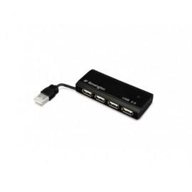 KENSINGTON Hub 4 puertos USB 2.0 negro 33399EU