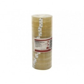5* Cinta adhesiva Transparente 19mmx33mm De facil corte Acordeon de 8 ud 464866