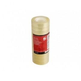 5* Cinta  Adhesiva 12MMX33M Polipropileno Fácil corte