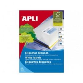 APLI Etiquetas ILC Caja 100 hojas 4000 ud 52.5 X 29.7  Blancas 1286