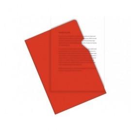 5* Dossier Caja 100 ud A4 Pvc Con uñero Rojo 200 micras