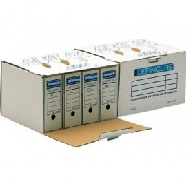 DEFINICLAS Contenedor Definiclás Para 4ud Folio 444x378x270mm Acceso lateral 96571