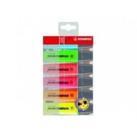 STABILO Marcador fluorescente Boss Original Estuche 6 ud Trazo 2-5mm Colores surtidos BOSS70/6